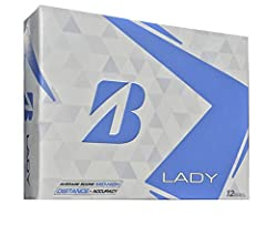 Softest ladies balls ever from Bridgestone Golf equates to longest distance with softest feel. Unique 2-pc Ionomer cover for maximum durability in 3 vibrant colors - optic white, Yellow and Pink.