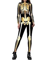 بدلة نسائية من ALBIZIA بتصميم جمجمة الهيكل العظمي للهالووين
