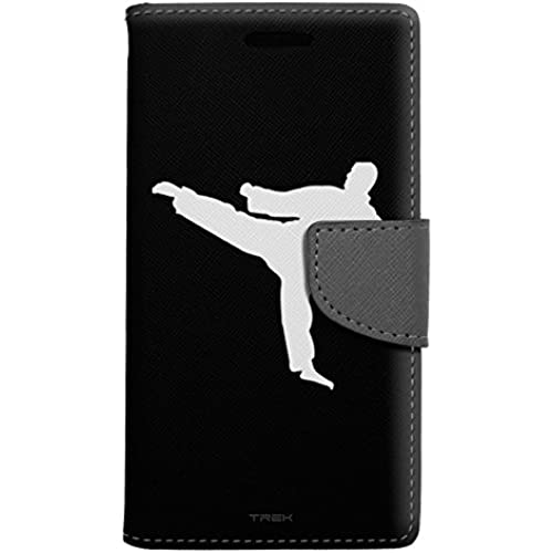 Samsung Galaxy S7 Edge Wallet Case - Silhouette Martial Arts on Black Case Sales