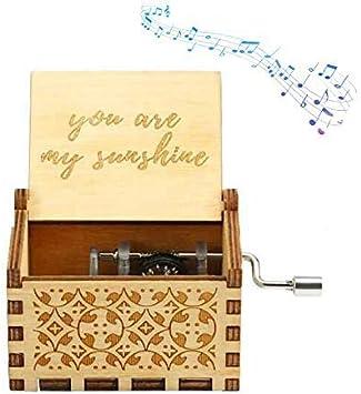 Funmo You Are my Sunshine Music Box Pure Hand-Classical You Are my Sunshine Caja de m/úsica Mano-Caja de m/úsica de Madera Artesan/ía de Madera Creativa Los Mejores Regalos