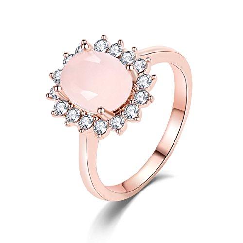 - Eternity Love Best Promise Rings for Her Anniversary 14k Rose Gold Opal Oval Ring