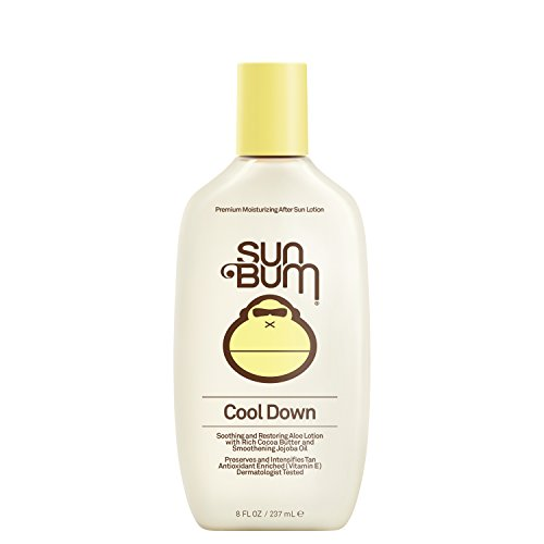 Sun Bum Cool Down Hydrating After Sun Lotion with Hydrating Aloe,Cocoa Butter and Vitamin E|Moisturizing Sun Burn Relief| Hypoallergenic, Gluten Free,Vegan|8ozBottle
