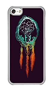 Apple Iphone 5C Case,WENJORS Cool Dream Catcher the rustic magic Hard Case Protective Shell Cell Phone Cover For Apple Iphone 5C - PC Transparent