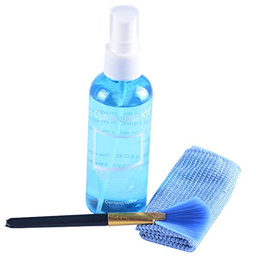 (Screen and Lens Cleaning Kits with 1 Bottle Spray Cleanser,1 Microfiber Cleaning Cloth and 1 Soft Brush for Eyeglasses,Sunglasses Electronics,Cameras,LCD,TV,Computer, Tablet,Cell Phone,Laptops )