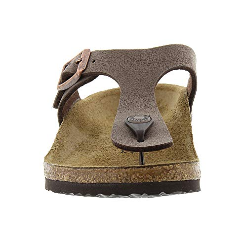 Birkenstock Gizeh Kid's Mocha Birkibuc Sandal 32 N EU (US 1-1.5 Little Kid) by Birkenstock (Image #4)