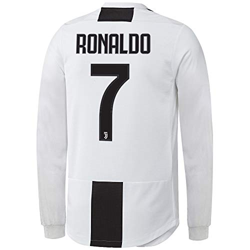 Cristiano Ronaldo Juventus  7 Youth Soccer Jersey Home Long Sleeve Shorts  Kit Kids Gift Set 079e59f58