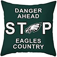 MT-Sports Football Super Bowl Throw Pillow Covers Pillow Cases Standard Size Decorative Pillowcase Protecter w