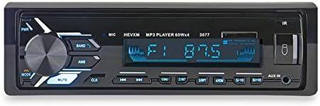 カーステレオ カーオーディオ 車載MP3プレーヤー BluetoothインダッシュFM AUX入力レシーバーSD USB MP3 MMC WMA MP3プレーヤー 1DIN 12V