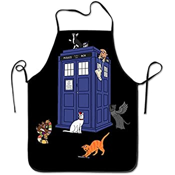 Doctor Who Cats Easy Clean BBQ Chef Kitchen Bib Aprons
