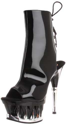 Pleaser - Botas mujer, color negro, talla 36 (4 UK)