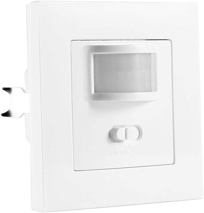 Interruptor de sensor de movimiento PIR, ONEVER interruptor de luz infrarroja de encendido/apagado de control IR montado en la pared 2 en 1 para escaleras Inicio (2 packs): Amazon.es: Iluminación