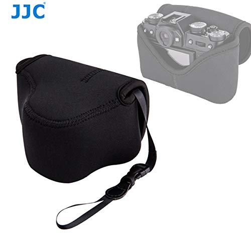 (JJC Black Ultra Light Neoprene Camera Case for Fuji X-T30 X-T20 X-T10 +18mm Lens/ 35mm Lens, Case for Fujifilm X-T100 +15-45mm Lens, Olympus E-M10II +14-42mm Lens, SP-820UZ, SP-810UZ, Water Resistant)