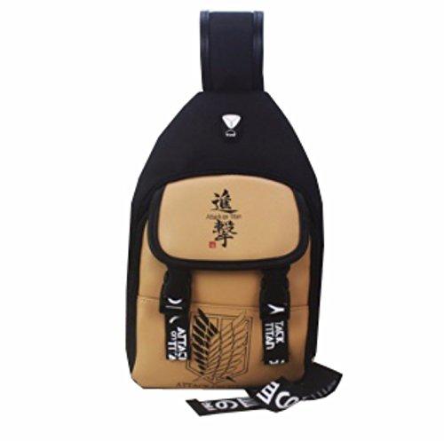 rare Schultertasche Tasche Shoulder Bag Rucksack reisetaschen Braun Feathers Attack On Titan new