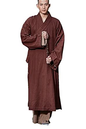 Amazon.com: ZanYing Brown Winter Meditation Robe Monk