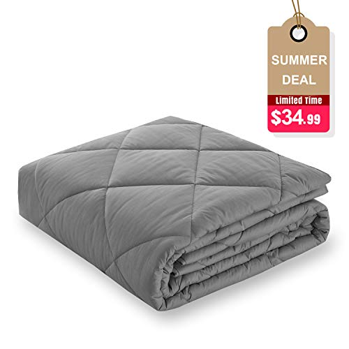 Basic Beyond Weighted Blanket - Heavy Blanket Friendly Glass Bead for Children Youths Adults Great Sleep (48''x72'', 12lbs, - Beads Glass Basic