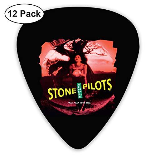 - ElijahO Stone Temple Pilots Core Celluloid Guitar Picks Plectrums (12 Pack) for Electric Guitar, Acoustic Guitar, Mandolin, and Guitar Bass