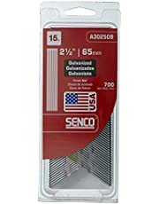 SENCO Products A302509 Senco 15 Gauge by 2-1/2-Inch Electro Galvanized Finish Nail