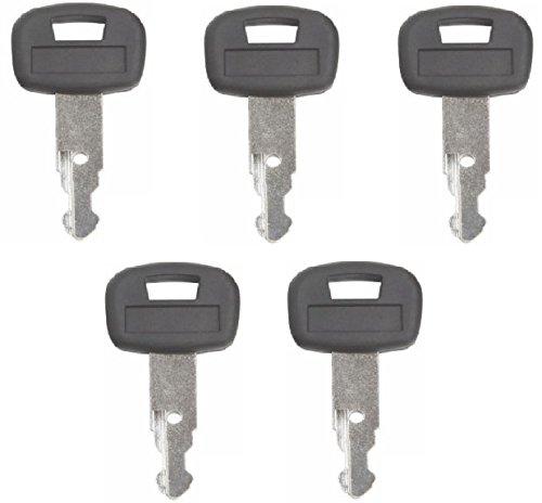 5 keys Kubota New M Series Mini Excavator Equipment Keys-Part Number 459A - Mini Excavator Parts