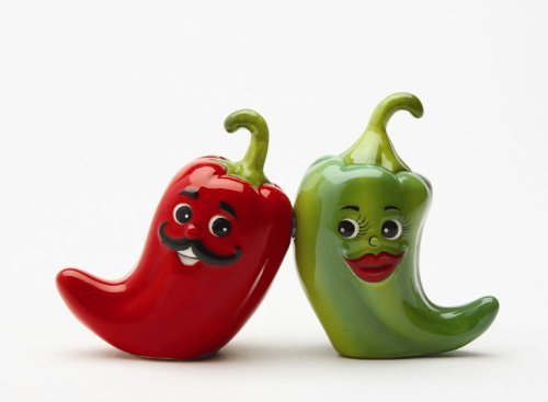 (1 X Hot Chili Peppers Magnetic Salt & Pepper Shakers S/P)