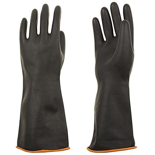 ThxToms Heavy Duty Latex Gloves, Resist Strong Acid, Alkali