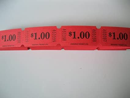 amazon com 500 red 1 consecutively numbered raffle tickets