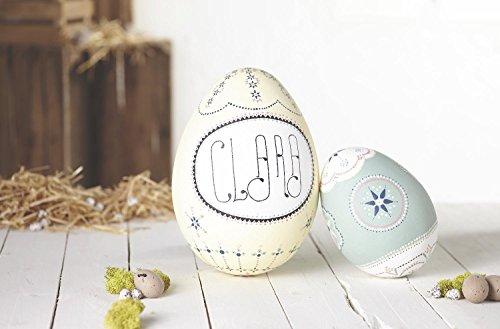 10er-Set Styropor-Eier 6x4,5cm weiß Osterei Deko-Ei zum Bemalen oder Bekleben