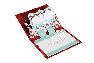 Sizzix Bigz XL BIGkick/Big Shot Die, Gift Card Holder/For You 3, D Card Pop, Up