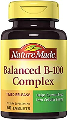 Nature Made B-100 Complex Time Release Tablets, 60 Count for Metabolic Health† (Packaging May Vary)
