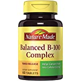 Nature Made Balanced B-100 Timed Release (Thiamin, Riboflavin, Niacin, B6, B12, Biotin, Pantothenic Acid & Folic Acid) Tablets 60 Ct For Sale