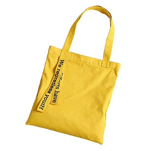 DFUCF Bolsa De Lona Bolso De Playa Bolsa De Trabajo De Almacenamiento De Gran Capacidad De Trabajo Bolso De Mensajero Bolsa De Viaje Yellow