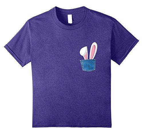 Kids Rabbit Bunny Hare In Pocket T Shirt Rabbit Farm Cute Shirts 8 Purple