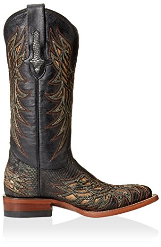 Lucchese Womens Western Boot Black/Silver 60EKF