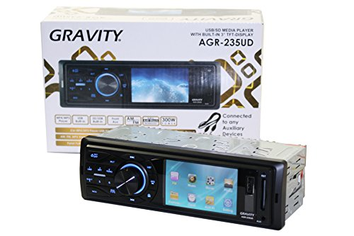 Gravity AGR-235UD Single Din in-Dash Car with 3'' TFT Display Entertainment System by Unknown