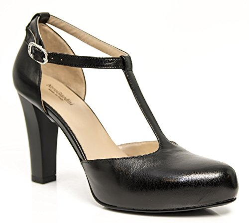 Leder 5400 SCHWARZES Tango P805400DE 100 Giardini Heels Nero Uwn0z6Zqw