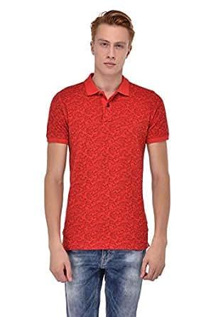 Sting Ferrari Red Shirt Neck T-Shirt For Men