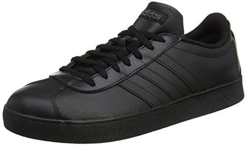 adidas Herren VL Court 2.0 Gymnastikschuhe Schwarz (Core Black/core Black/ftwr White)