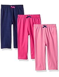 Baby Girls' Leggings, 3 Pack