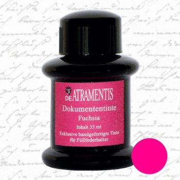 De Atramentis® Document Ink-Fuschia 35 mL fountain pen bottled ink