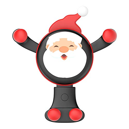 Bodima Universal Air Vent Car Phone Mount (Christmas Santa Claus) 360° Adjustability, Hands-Free Use   Slip-Resistant Smartphone Protection   Travel Fun and Novelty