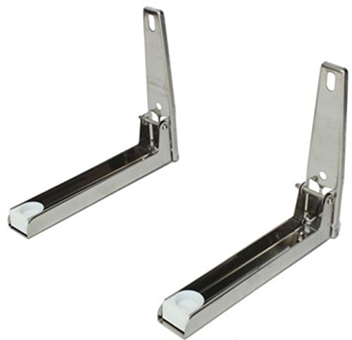 2pcs Stainless steel Foldable Microwave Oven Shelf Wall Mount Bracket Stand Support Holder by ShopIdea