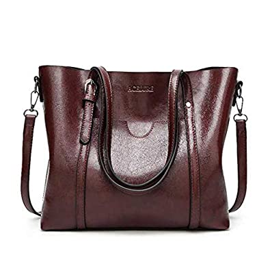 HITSAN INCORPORATION ALCEVR Women Bag Luxury Handbags Outlet Women Tote  Shoulder Bag Soft Leather High Capacity 8667fcb877aaf