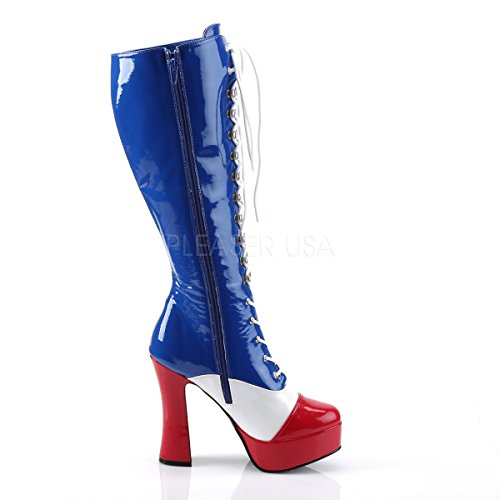 with Womens Blue stripes Knee Heels Electra Boots Higher stars 2030 PleaserUSA and Patriotic qxB8wnTCS