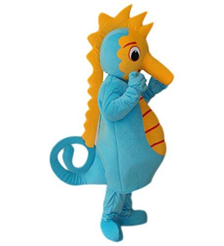 MascotShows Hippocampus sea horse Adult Mascot Costume Ad...