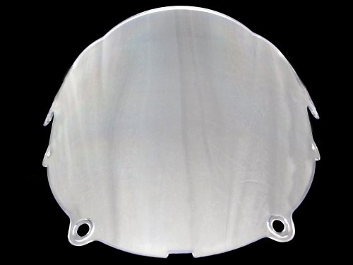 2003-2004 03-04 2003 2004 Kawasaki ZX6R ZX6 636 Double Bubble Clear Windscreen (Injection Molding with Polycarbonate)