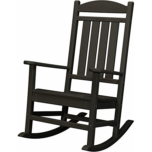 Hanover Outdoor Furniture HVR100BL All Weather Pineapple Cay Porch Rocker, Black