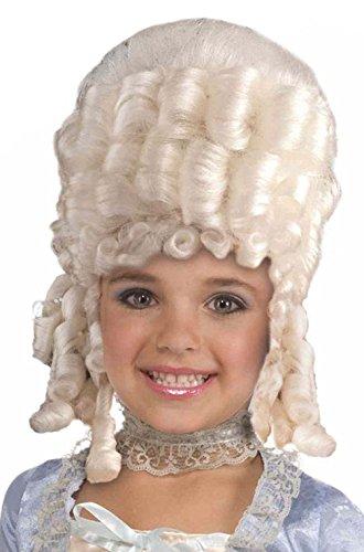 Mememall Fashion Child Marie Antoinette Costume Wig (White) (Child Marie Antoinette Costume)