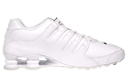 Nike Shox NZ EU–Zapatillas de running de piel de color blanco/negro/blanco