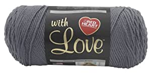 RED HEART With Love Yarn, Pewter