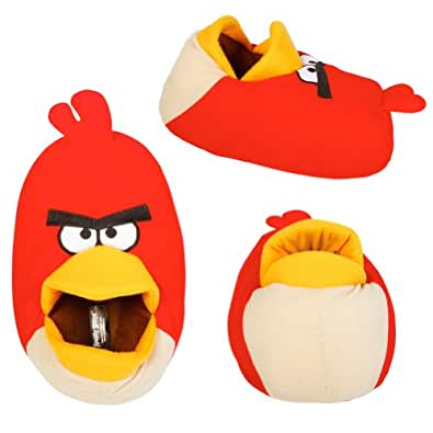 Licensed Rovio Angry Birds Red Bird Plush Head Slippers Kid X Large 4-5