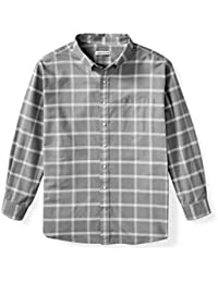 Men's Big & Tall Long-Sleeve Windowpane Pocket Shirt fit by DXL